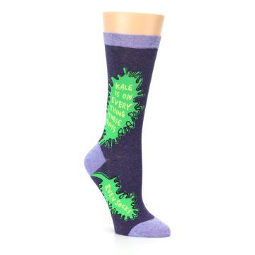 Image of Purple Green Kale Women's Dress Socks (side-1-27)