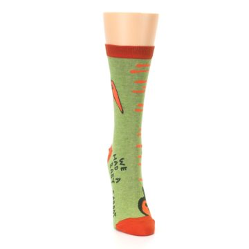 Image of Green Orange Baby Carrot Women's Dress Socks (front-04)