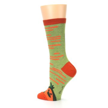Image of Green Orange Baby Carrot Women's Dress Socks (side-2-back-14)