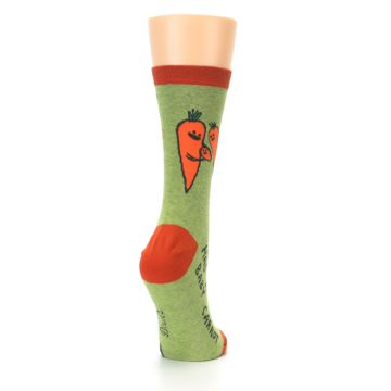 Image of Green Orange Baby Carrot Women's Dress Socks (side-1-back-21)