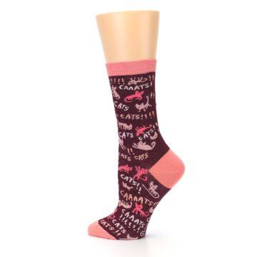Image of Maroon Cats Women's Dress Socks (side-2-13)