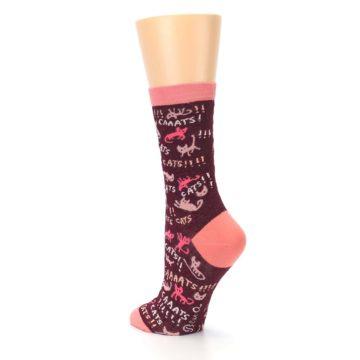 Image of Maroon Cats Women's Dress Socks (side-2-back-15)