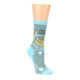 Image of Blue Grey Here Comes Trouble Women's Dress Socks (side-1-front-01)