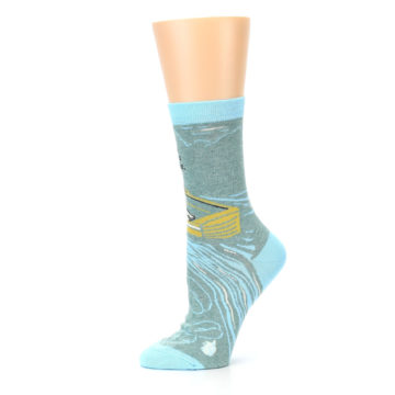 Image of Blue Grey Here Comes Trouble Women's Dress Socks (side-2-11)