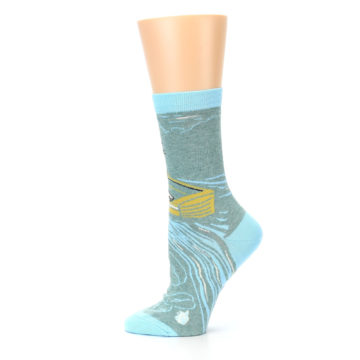 Image of Blue Grey Here Comes Trouble Women's Dress Socks (side-2-12)