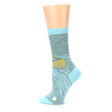 Image of Blue Grey Here Comes Trouble Women's Dress Socks (side-2-13)