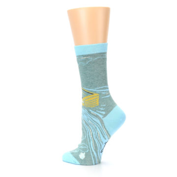 Image of Blue Grey Here Comes Trouble Women's Dress Socks (side-2-back-14)