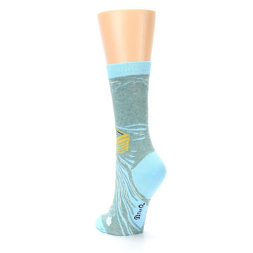 Image of Blue Grey Here Comes Trouble Women's Dress Socks (side-2-back-16)