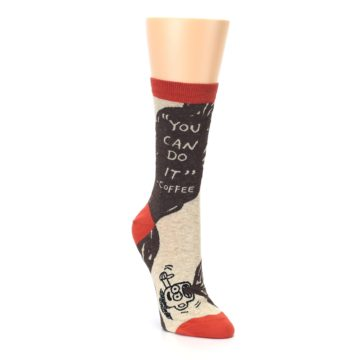 Image of Brown Coffee Women's Dress Socks (side-1-front-02)
