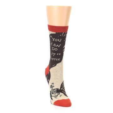 Image of Brown Coffee Women's Dress Socks (side-1-front-03)