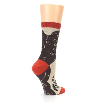 Image of Brown Coffee Women's Dress Socks (side-1-23)