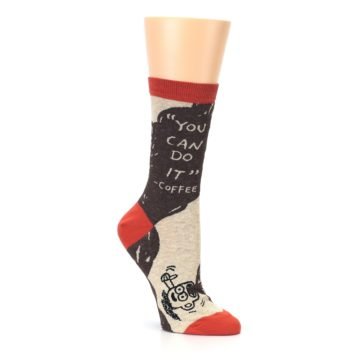 Image of Brown Coffee Women's Dress Socks (side-1-27)