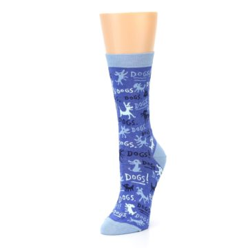 Image of Blue Dogs Women's Dress Socks (side-2-front-08)