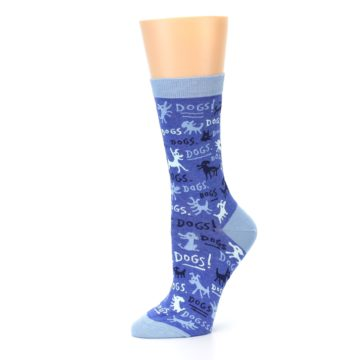 Image of Blue Dogs Women's Dress Socks (side-2-10)