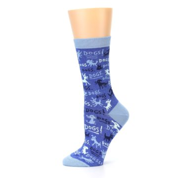 Image of Blue Dogs Women's Dress Socks (side-2-11)