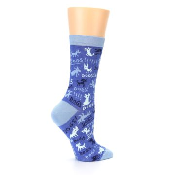 Image of Blue Dogs Women's Dress Socks (side-1-24)