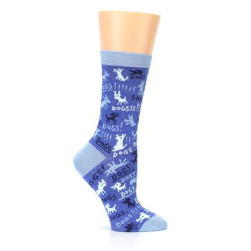 Image of Blue Dogs Women's Dress Socks (side-1-25)