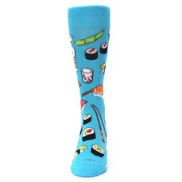Image of Bright Blue Sushi Food Men's Dress Socks (front-05)