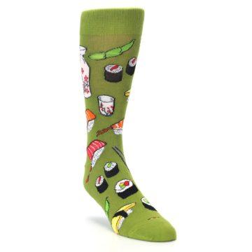 Image of Green Sushi Food Men's Dress Socks (side-1-front-02)