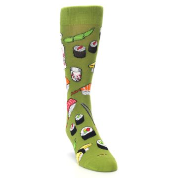 Image of Green Sushi Food Men's Dress Socks (side-1-front-03)