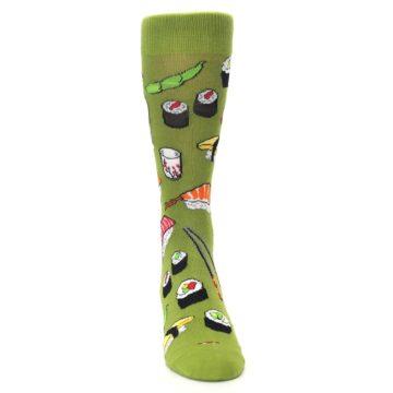 Image of Green Sushi Food Men's Dress Socks (front-04)