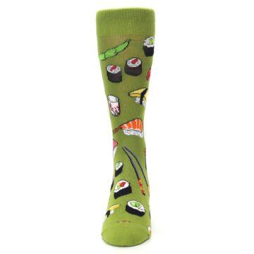 Image of Green Sushi Food Men's Dress Socks (front-05)
