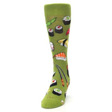 Image of Green Sushi Food Men's Dress Socks (side-2-front-06)