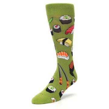 Image of Green Sushi Food Men's Dress Socks (side-2-front-08)