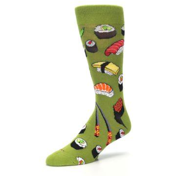 Image of Green Sushi Food Men's Dress Socks (side-2-09)