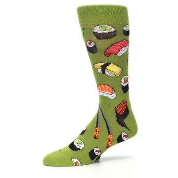 Image of Green Sushi Food Men's Dress Socks (side-2-10)