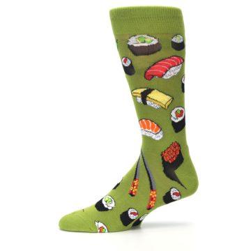 Image of Green Sushi Food Men's Dress Socks (side-2-11)