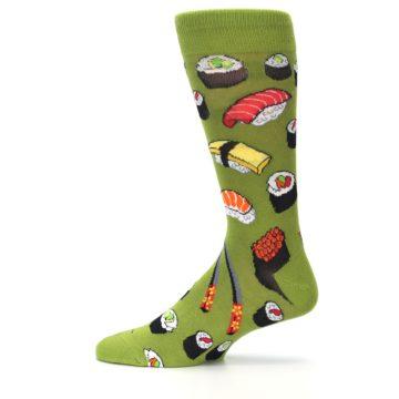 Image of Green Sushi Food Men's Dress Socks (side-2-12)