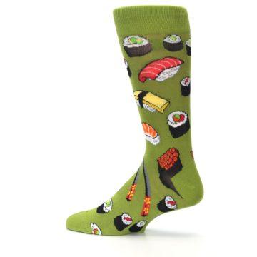 Image of Green Sushi Food Men's Dress Socks (side-2-13)