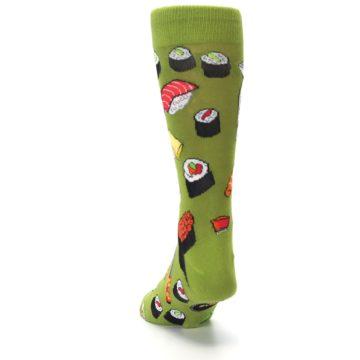 Image of Green Sushi Food Men's Dress Socks (back-17)