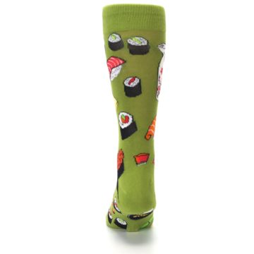 Image of Green Sushi Food Men's Dress Socks (back-18)