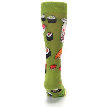 Image of Green Sushi Food Men's Dress Socks (back-19)