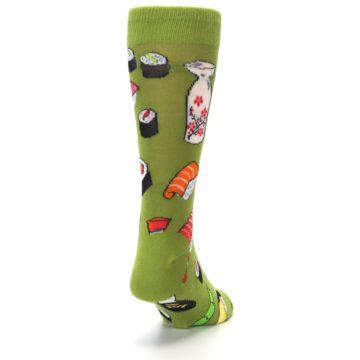 Image of Green Sushi Food Men's Dress Socks (side-1-back-20)