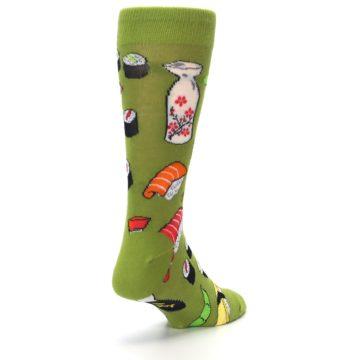 Image of Green Sushi Food Men's Dress Socks (side-1-back-21)