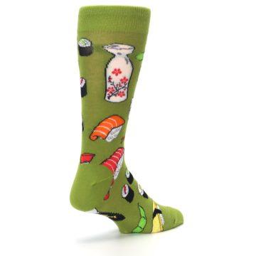 Image of Green Sushi Food Men's Dress Socks (side-1-back-22)
