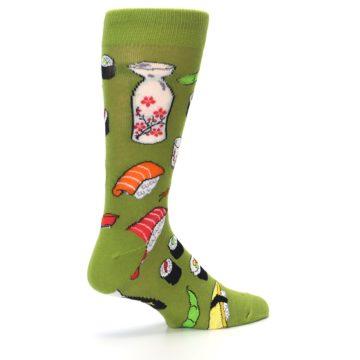 Image of Green Sushi Food Men's Dress Socks (side-1-23)