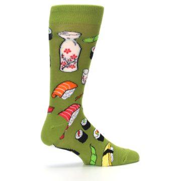 Image of Green Sushi Food Men's Dress Socks (side-1-24)
