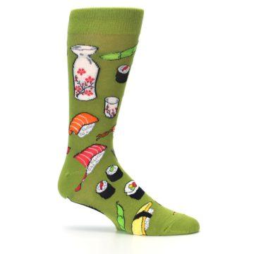 Image of Green Sushi Food Men's Dress Socks (side-1-25)