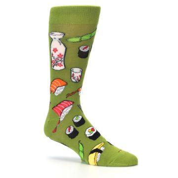 Image of Green Sushi Food Men's Dress Socks (side-1-26)