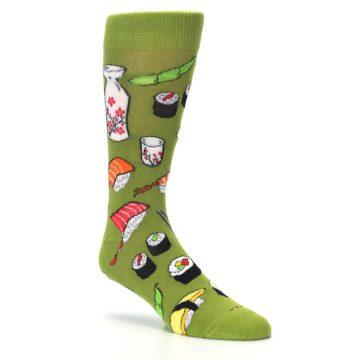 Image of Green Sushi Food Men's Dress Socks (side-1-27)