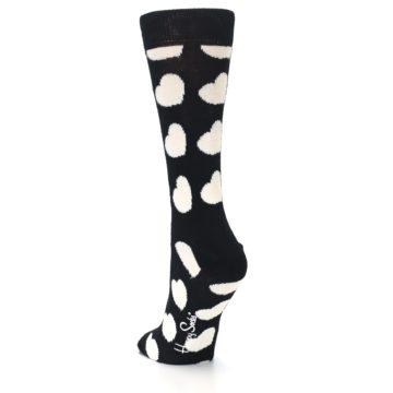 Image of Black and White Hearts Women's Dress Socks (side-2-back-16)