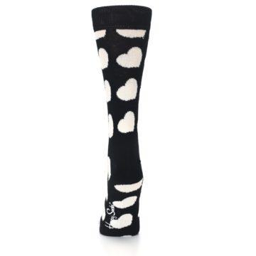 Image of Black and White Hearts Women's Dress Socks (back-18)