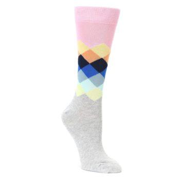 faded diamond womens dress socks by happy socks