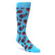 Image of Turquoise Coral Paisley Men's Dress Socks (side-1-front-01)