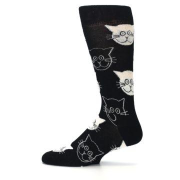 Image of Black and White Cats Men's Dress Socks (side-2-12)