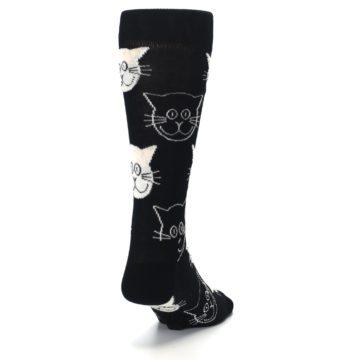 Image of Black and White Cats Men's Dress Socks (side-1-back-20)